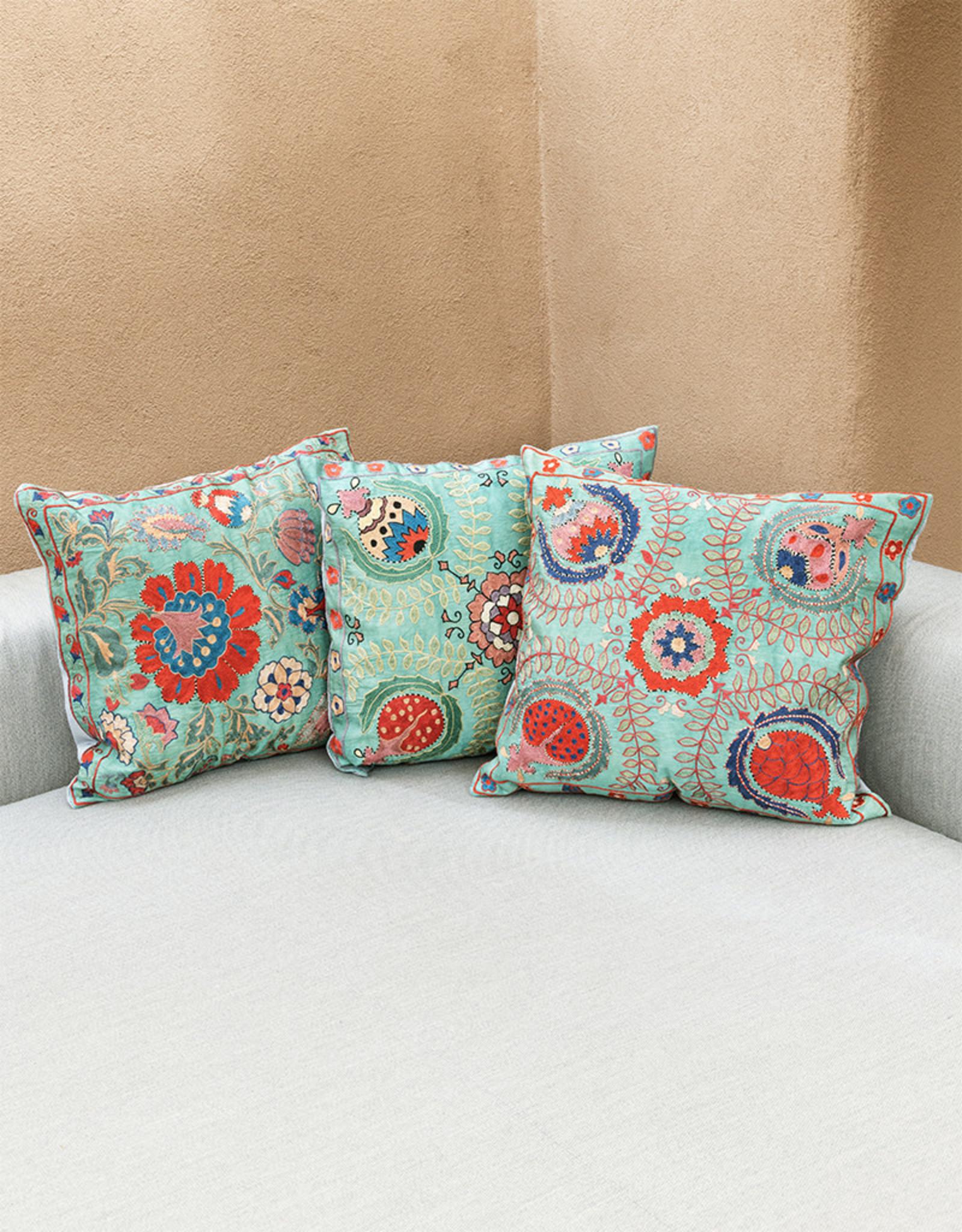 Nazarov Family Fergana Pillow Turquoise II