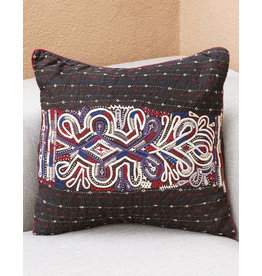 Ram Horn Pillow Black