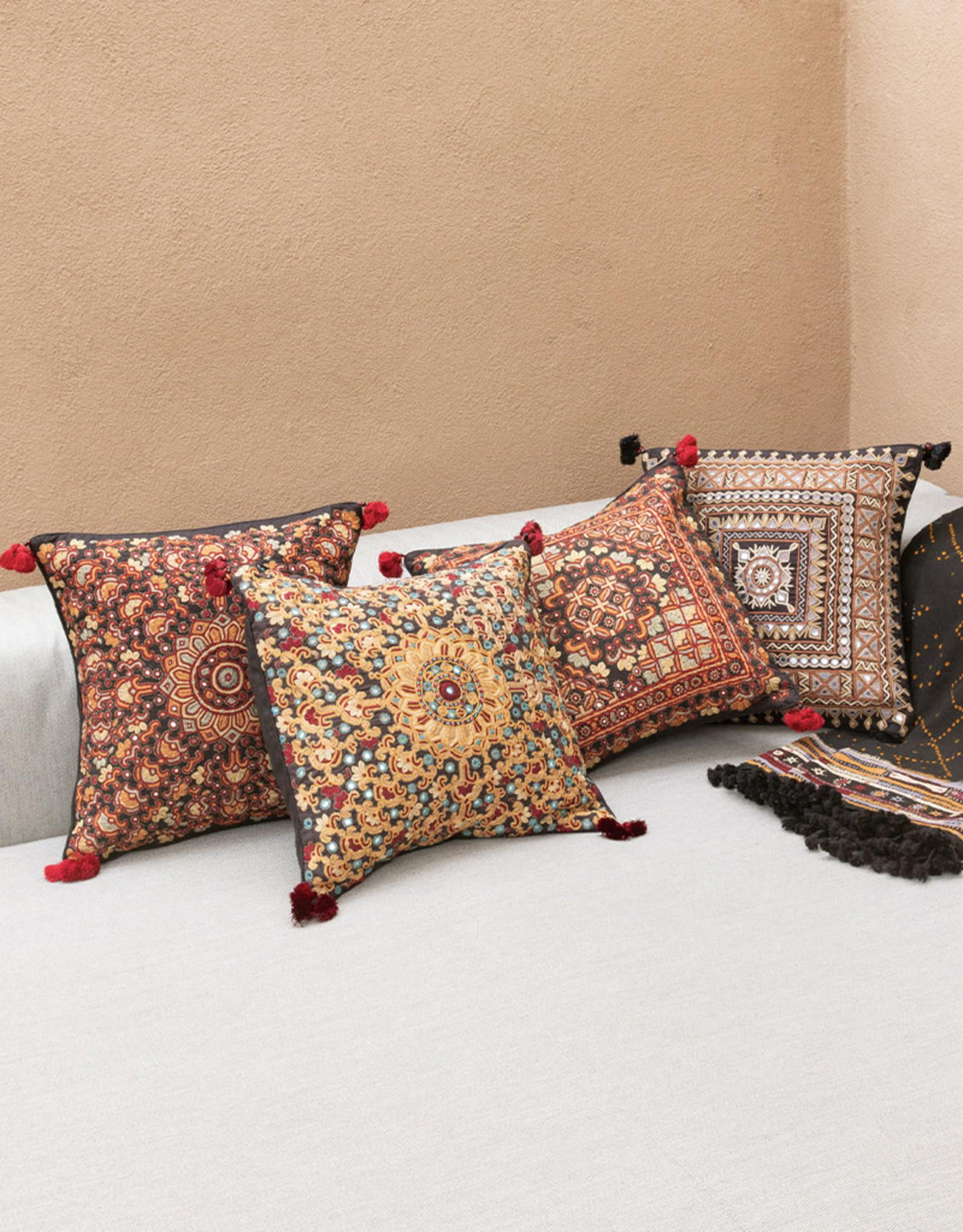 Qasab Shisha Red Sun Pillow