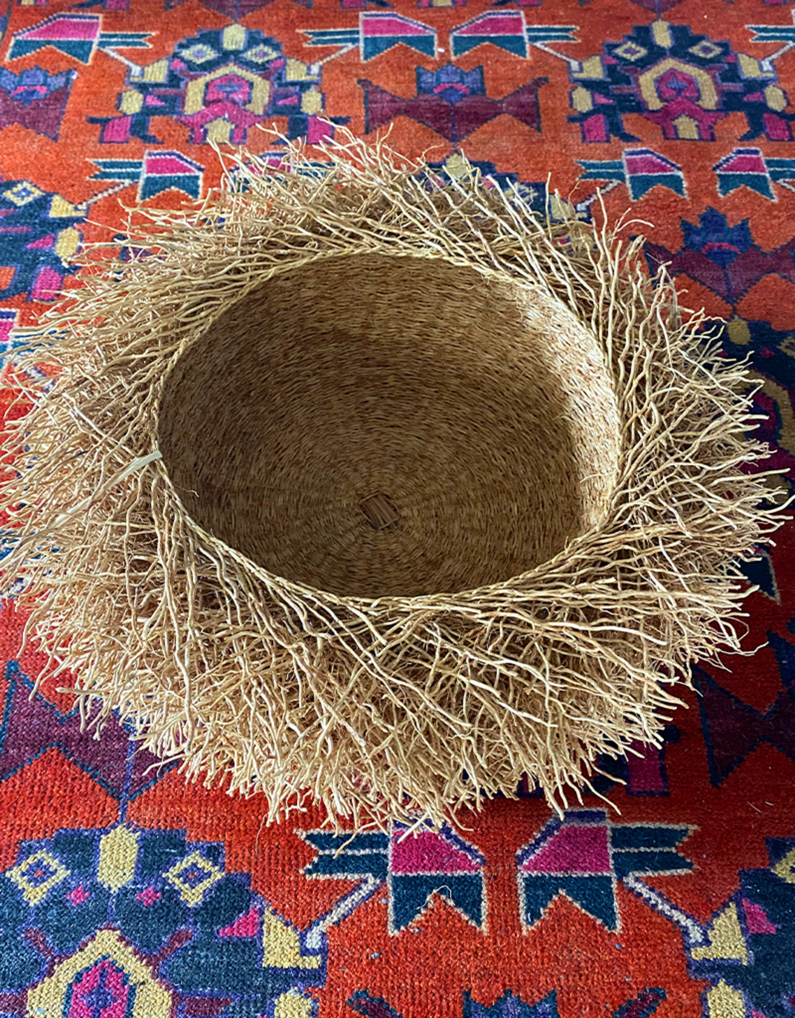 Tahiana Handwoven Vetiver Nest Basket Medium