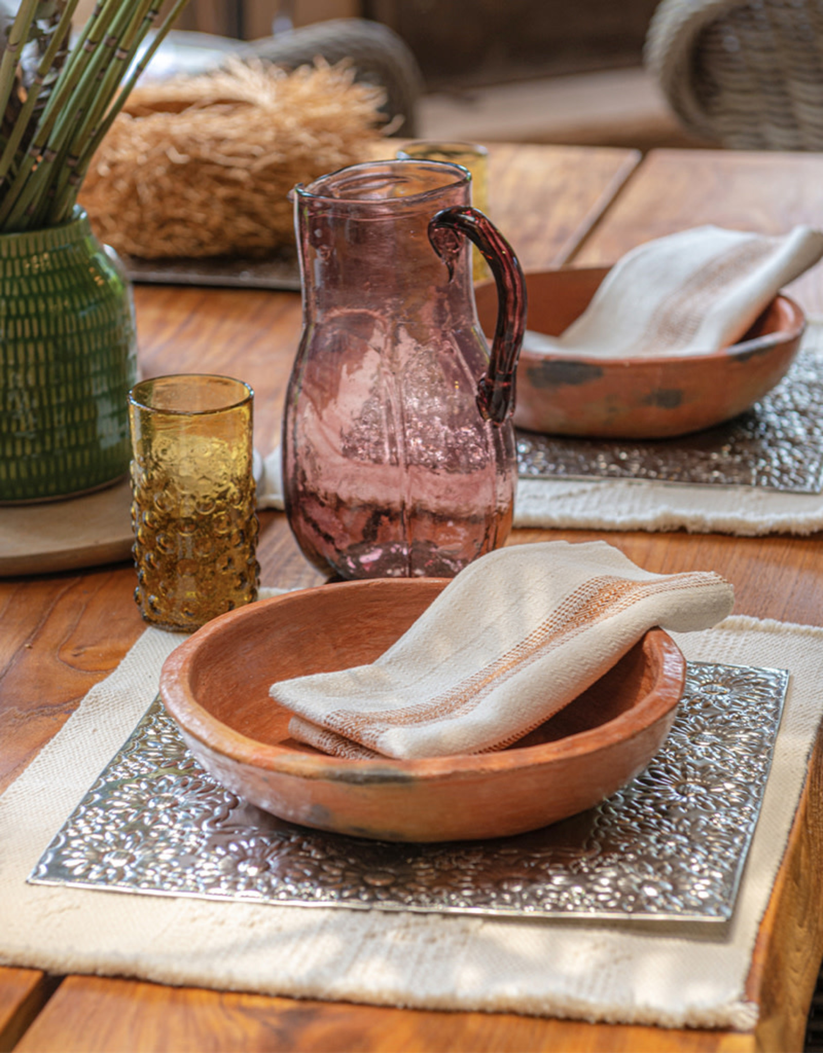 Andares Hand Hammered Tin Placemat