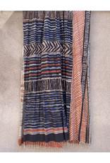 Haridra Hand Painted Natural Color Cotton Shawl Abstract 8