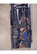 Haridra Hand Painted Natural Color Cotton Shawl Abstract 9
