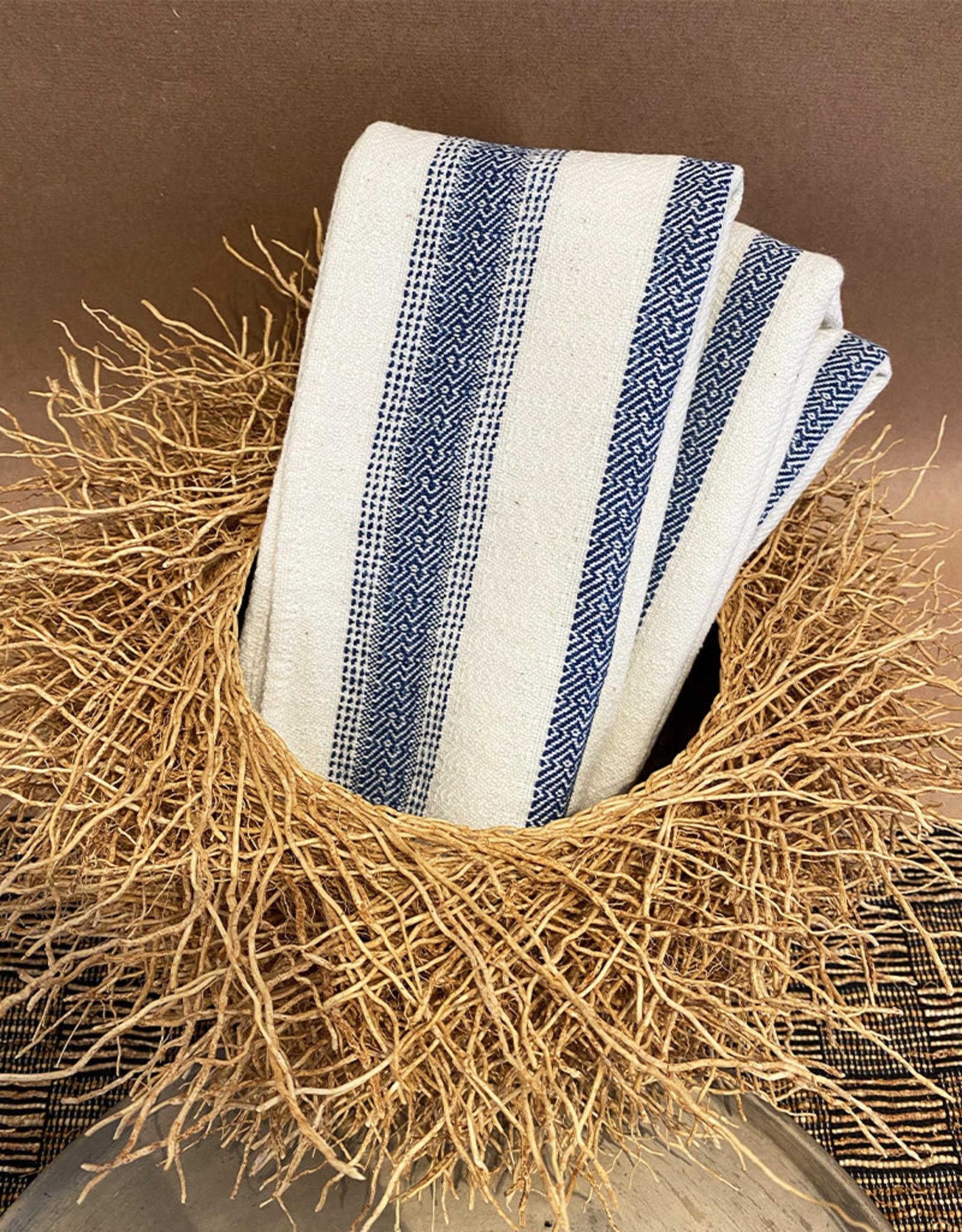 Andares Woven Napkin Cream and Indigo