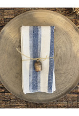 Andares Cream and Indigo Napkin