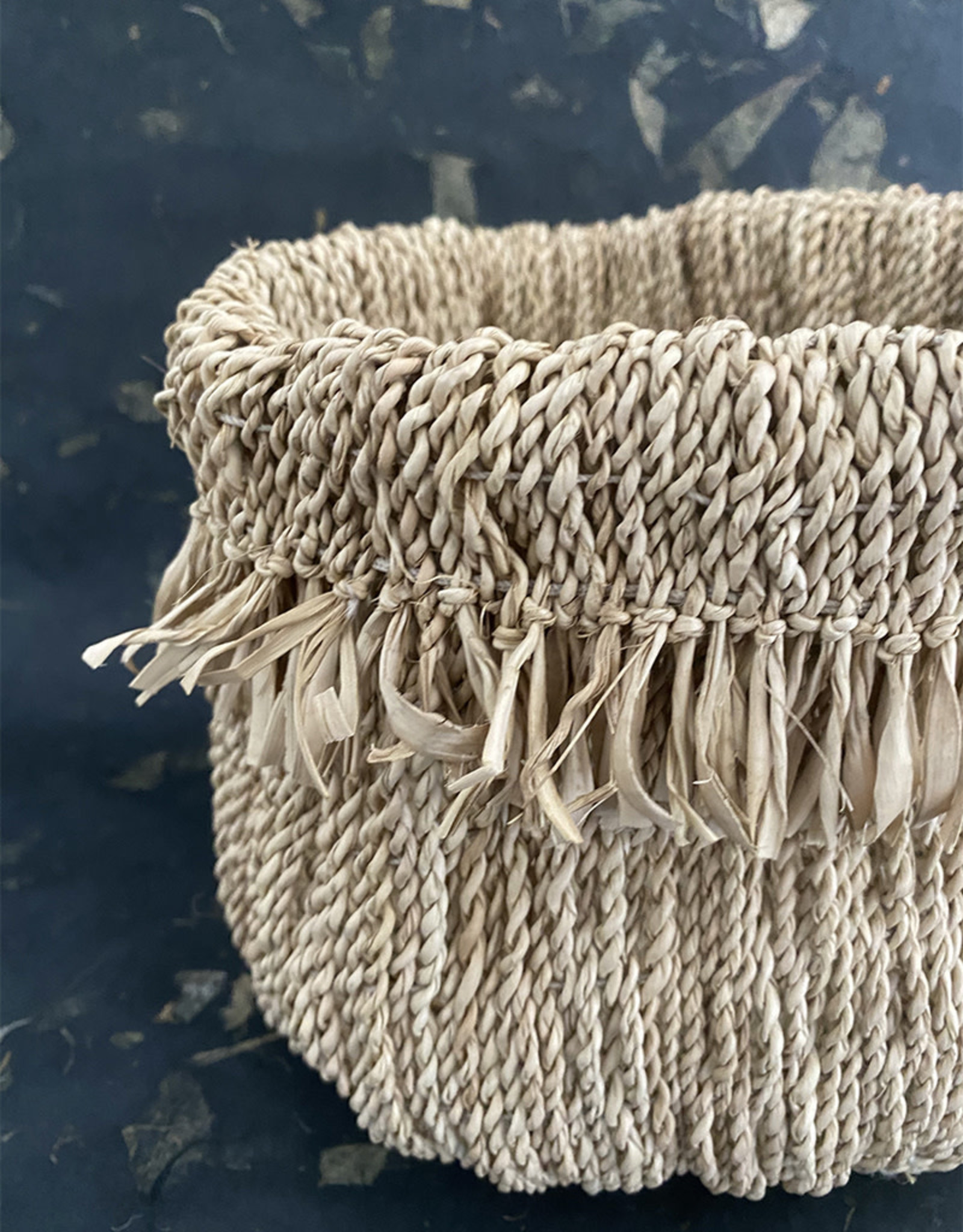 Omba Folded String Basket Medium Natural