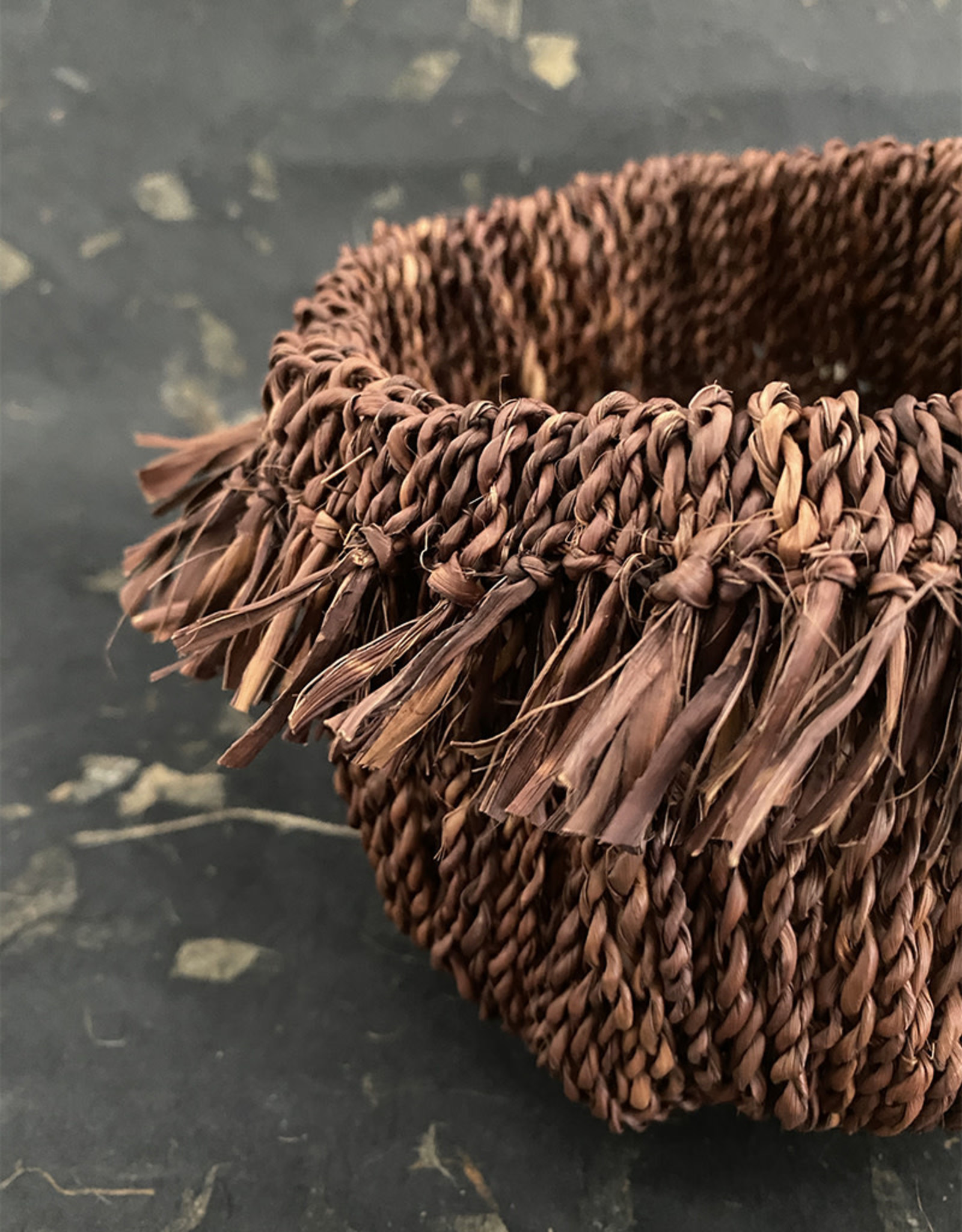 Omba Folded String Basket Medium Dyed