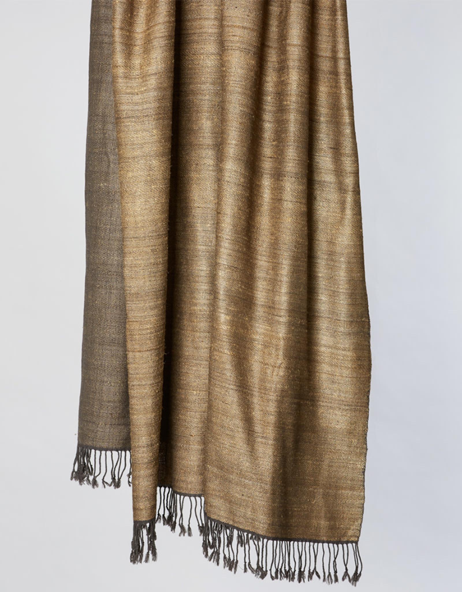 Avani Shauka Shawl Gold & Charcoal