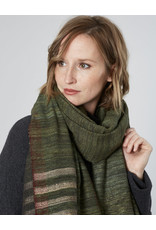 Avani Shauka Stripes Shawl Olive