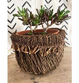 Omba Folded String Basket Medium Dyed