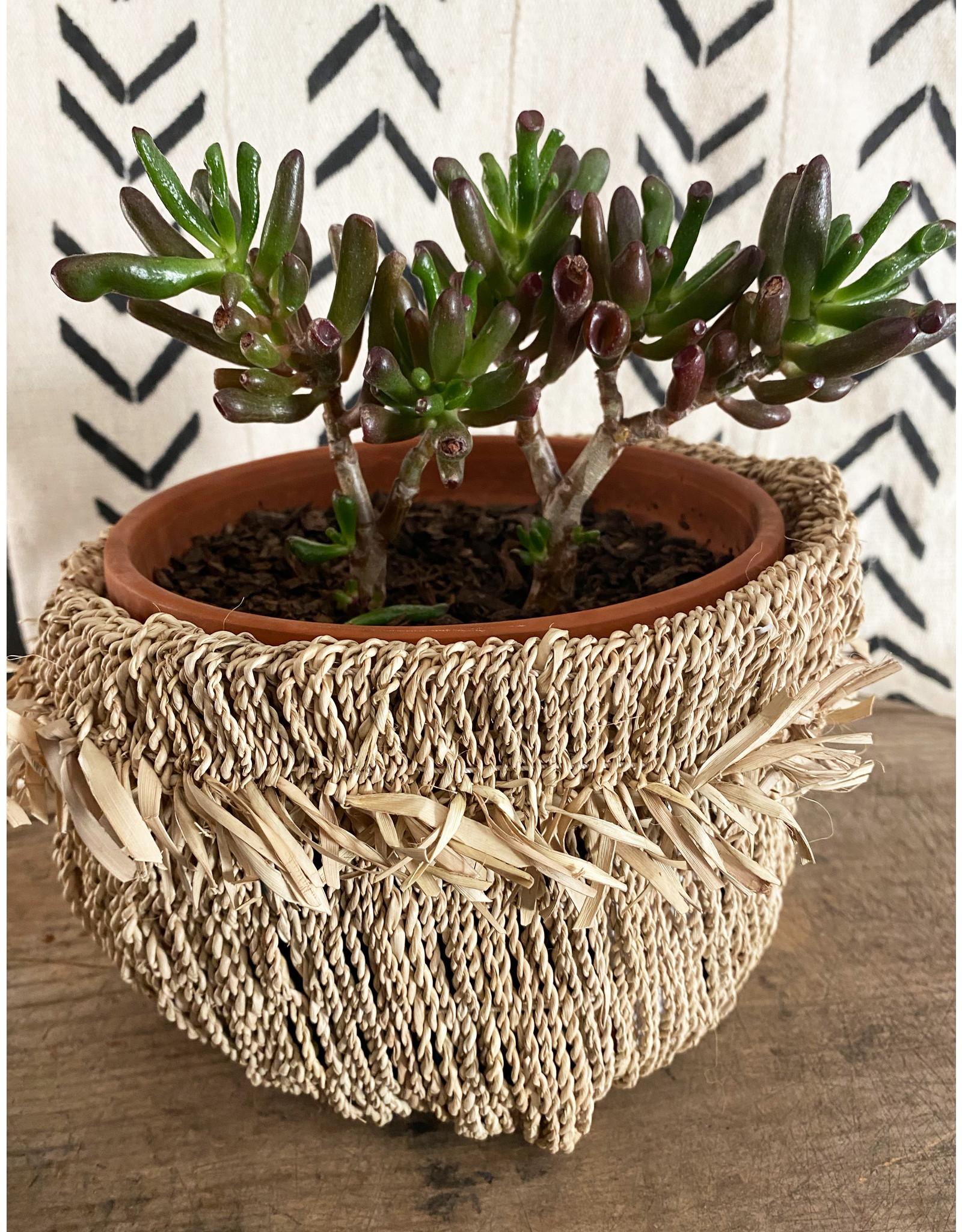 Omba Natural Medium Folded String Basket