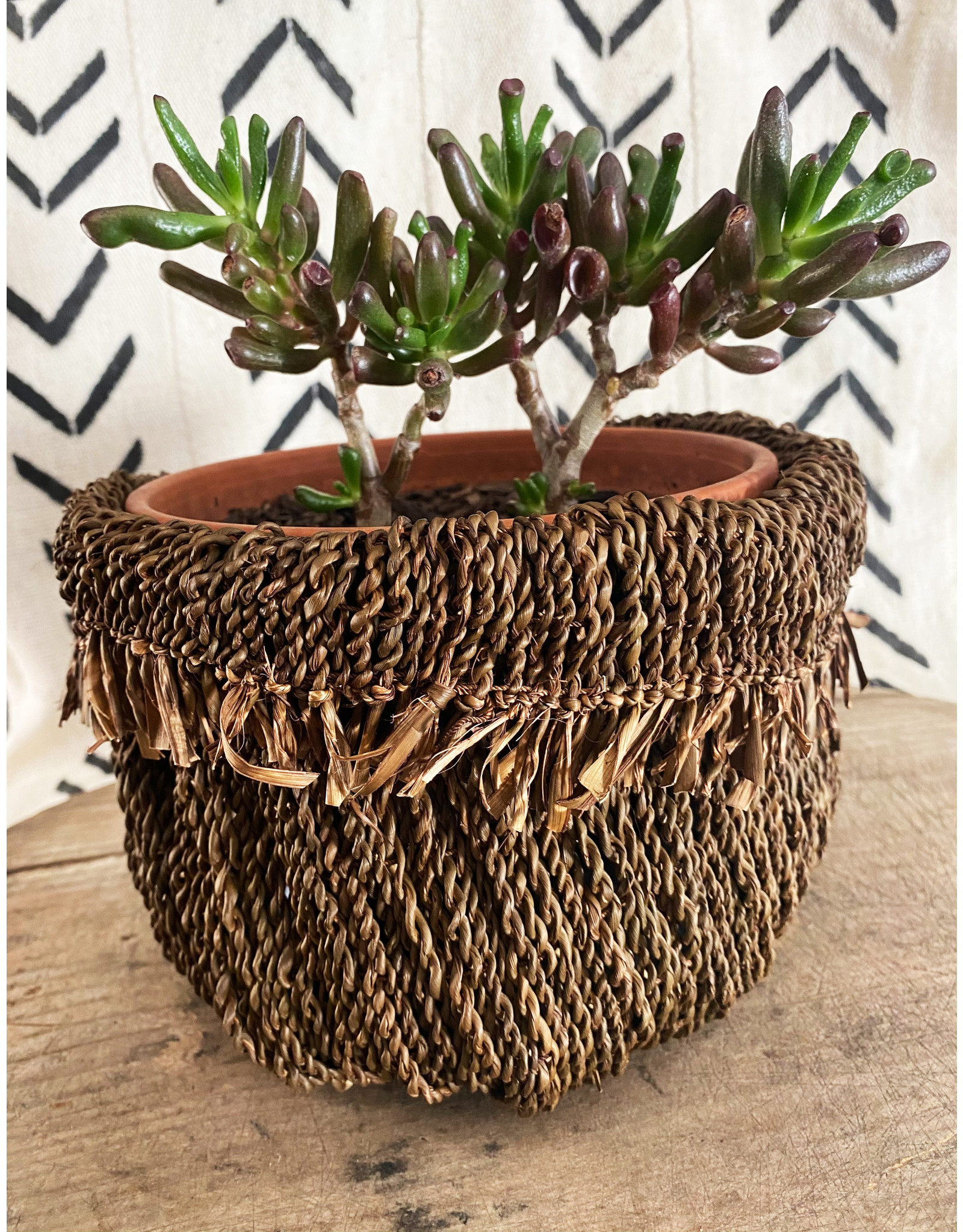 Omba Folded String Basket Small Dyed
