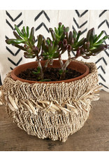 Omba Small Natural Folded String Basket