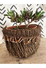 Omba Folded String Basket Large Dyed