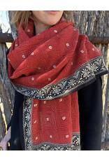 SHE Varma Shawl Crimson and Black