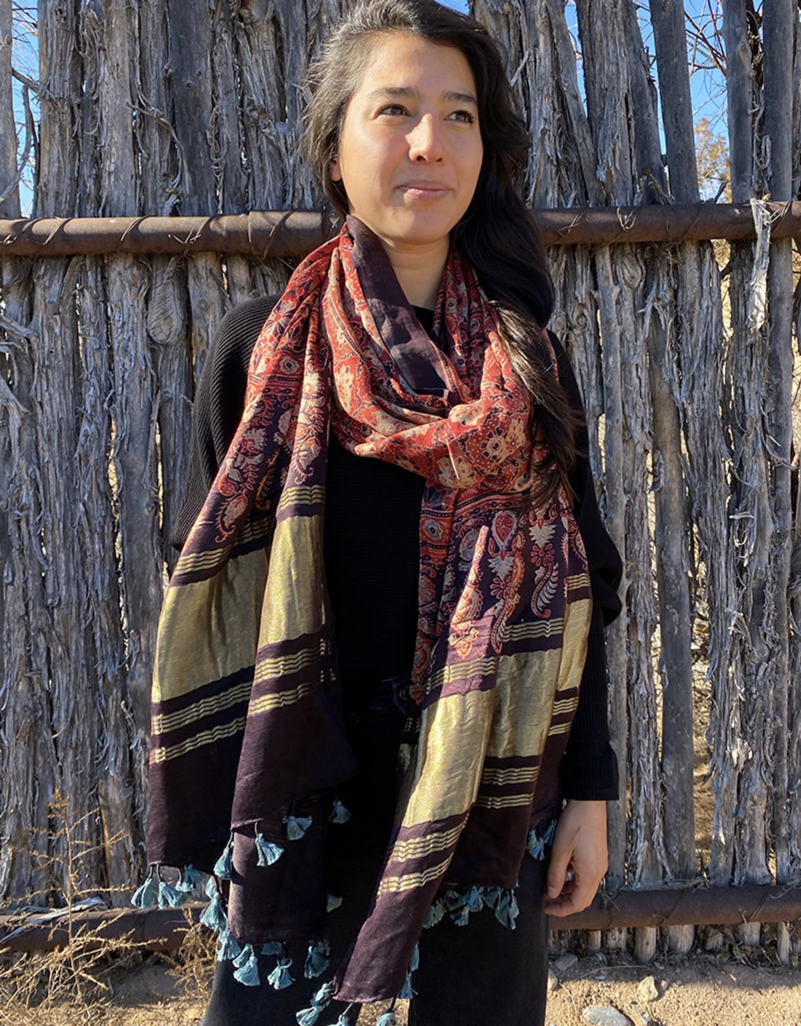 Sufiyan Fahsha Shawl Crimson Multi