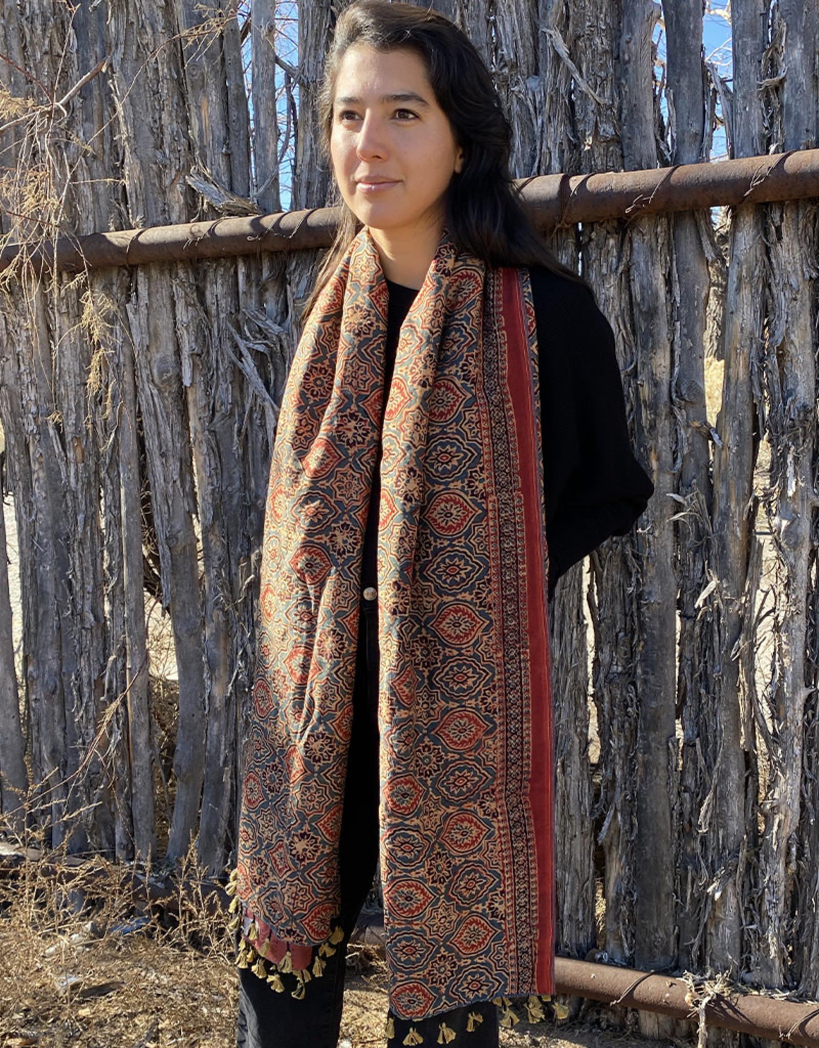 Sufiyan Ziba Shawl Crimson Multi