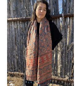 Sufiyan Ziba Shawl Indigo Rust Multi