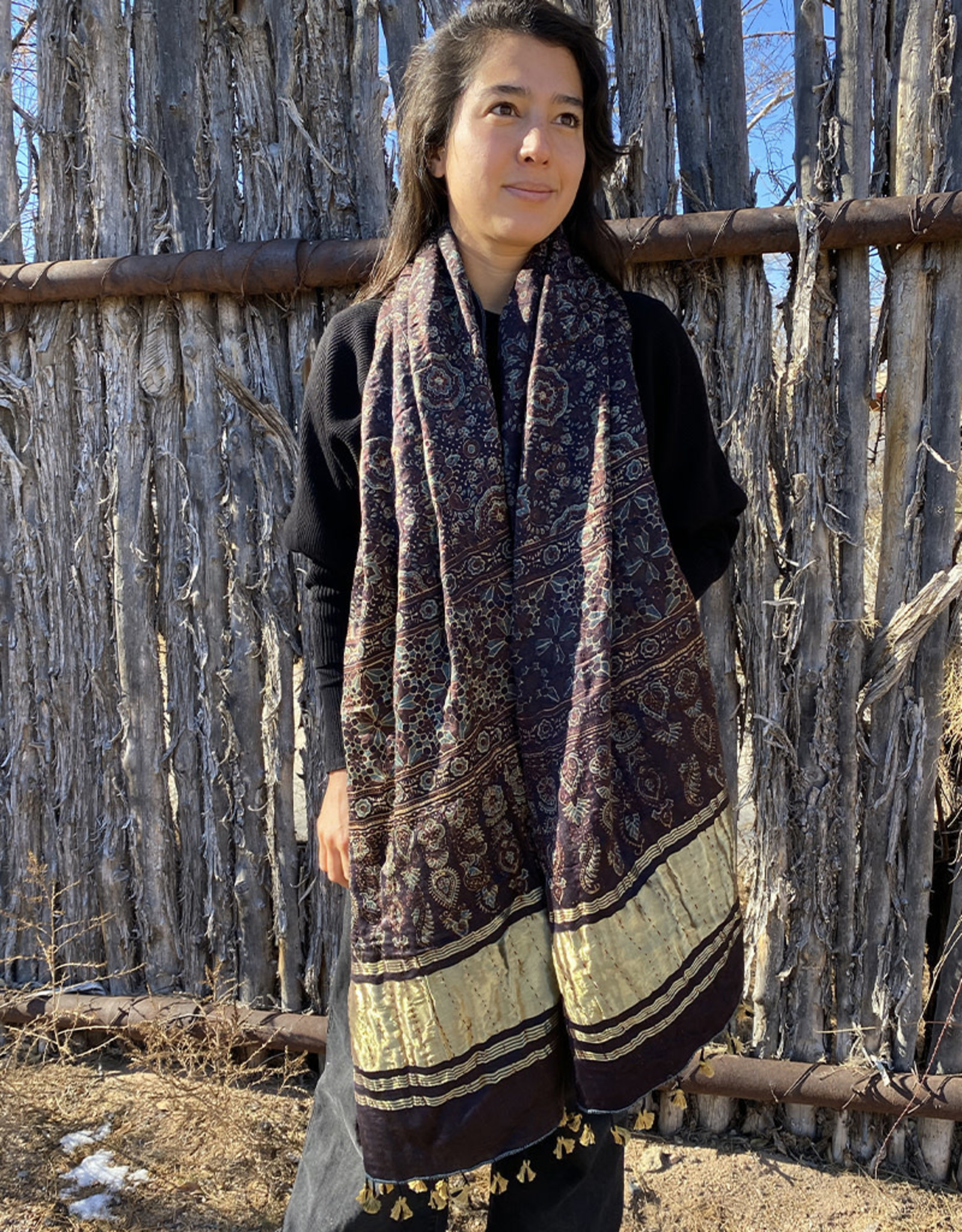 Sufiyan Ziba Shawl Eggplant Multi