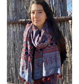 Sufiyan Ziba Shawl Crimson Sky