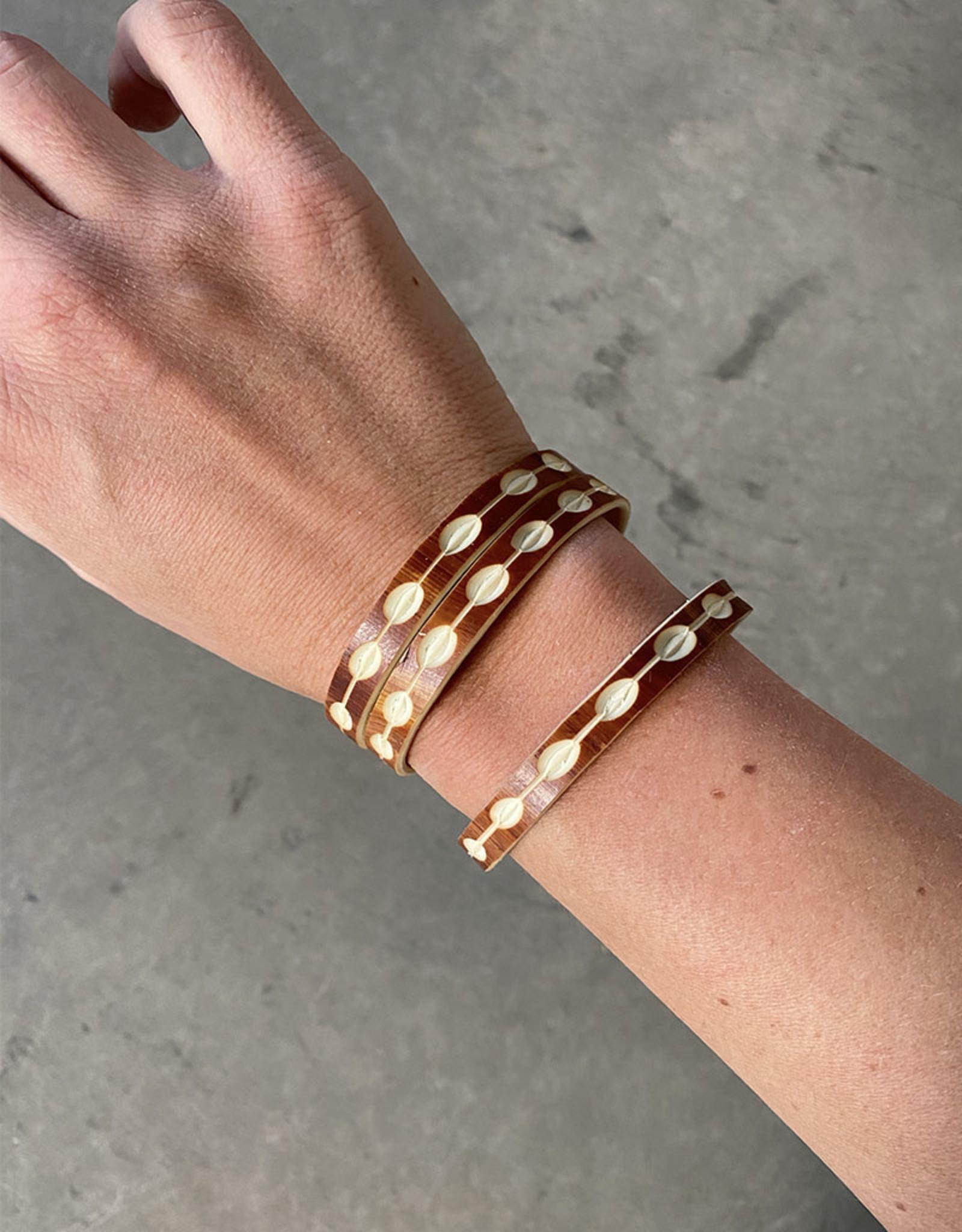"Omba Himba Tile Bracelet Rust 0.25"""