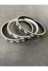 "Omba Himba Tile Bracelet Black 0.25"""