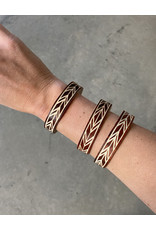 Omba Himba Feather Bracelet Rust 0.5""