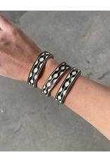 "Omba Himba Tile Bracelet Black 0.5"""