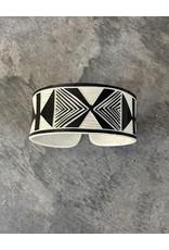 """Omba Himba Geometric Bracelet Black 1.25"""""""