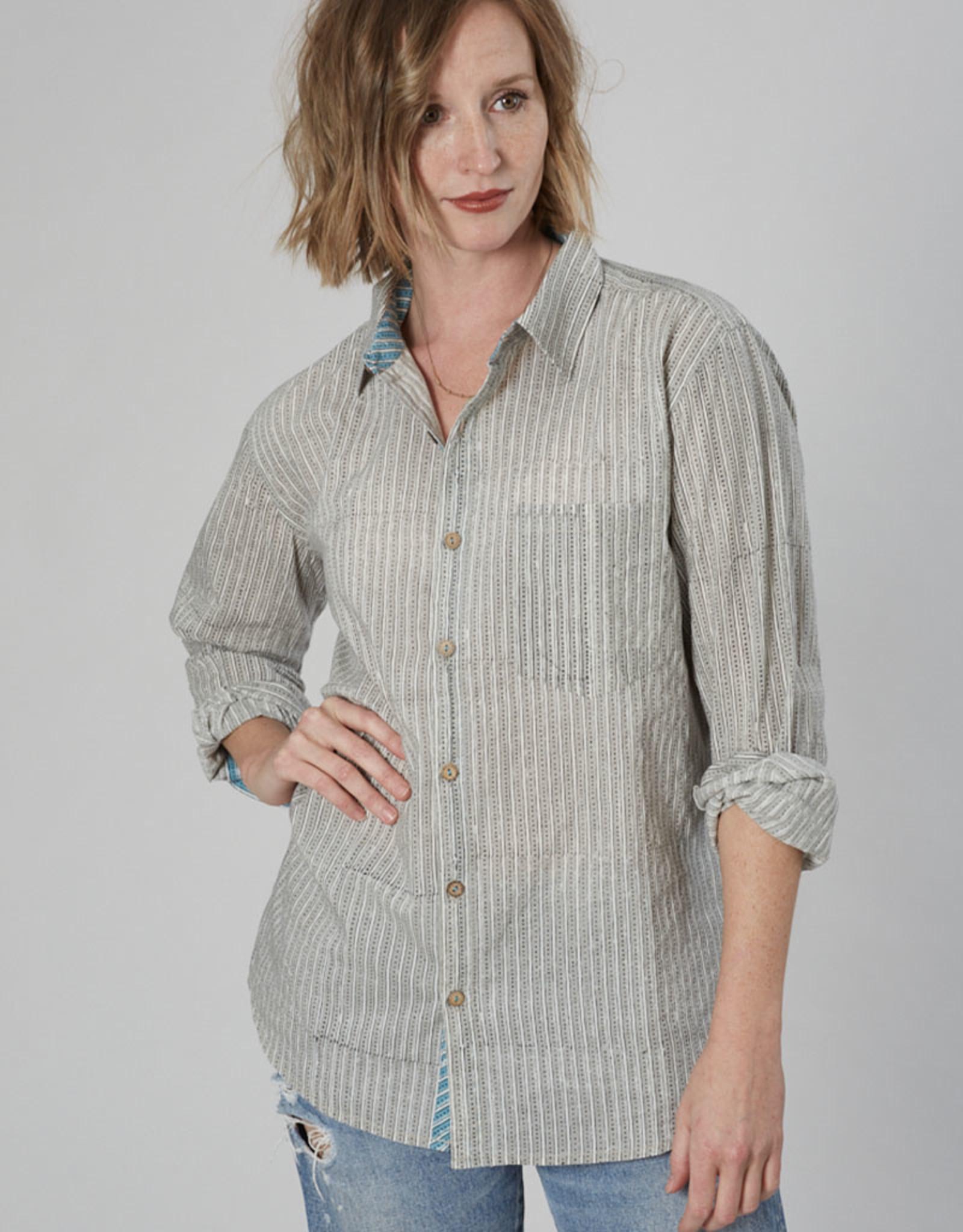 Dharan Geo Stripe Shirt
