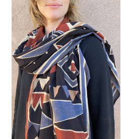 Haridra Hand Painted Cotton Scarf Abstract 5