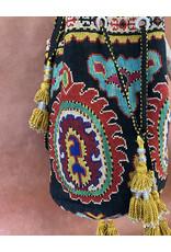 Gulnora Suzani Opera Bag Black Marigold