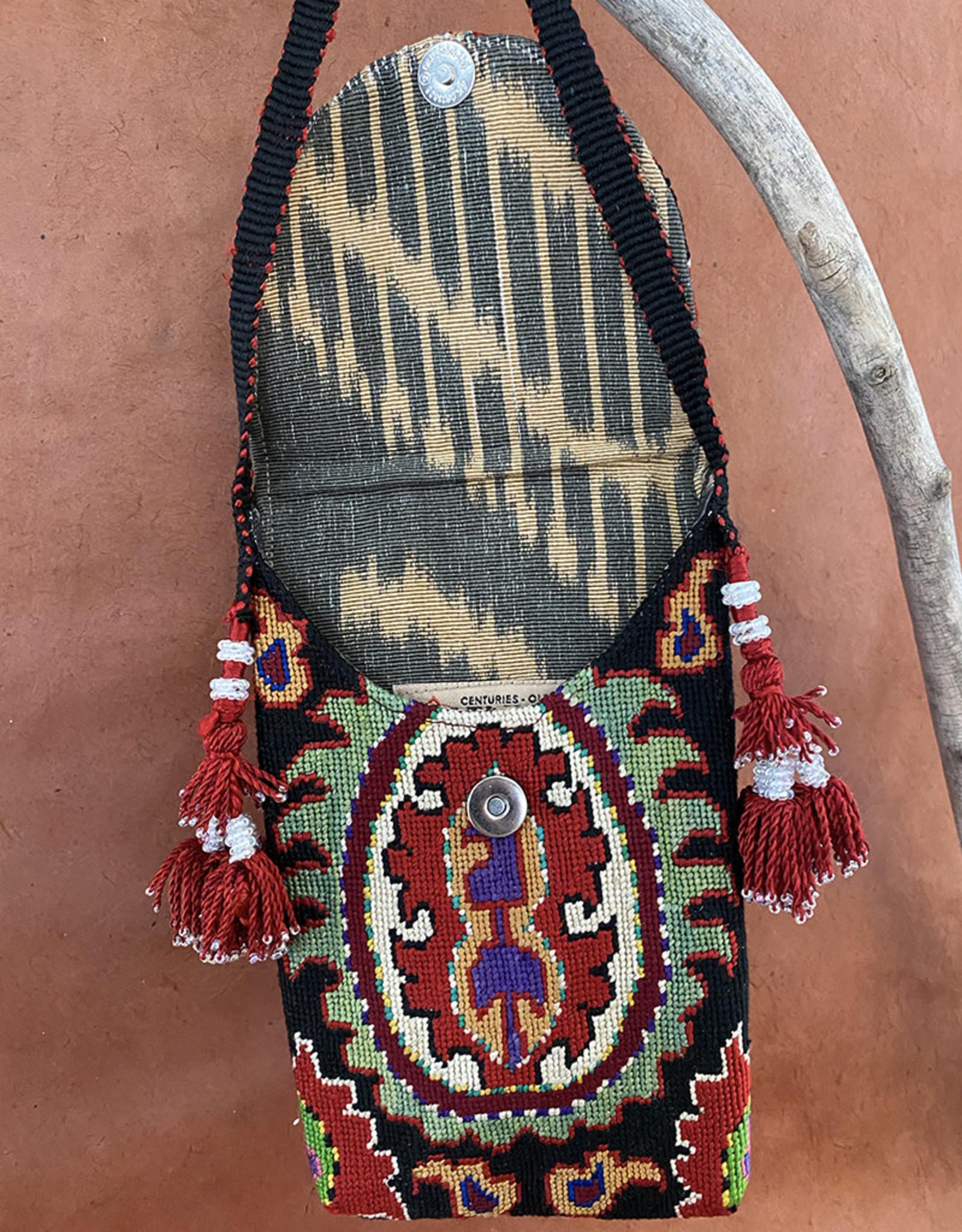Gulnora Suzani Pouch Black Sage