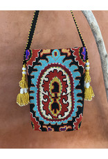 Suzani Pouch Turquoise