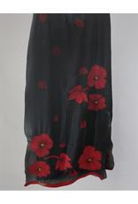 Seven Sisters Poppy Scarf Black Crimson
