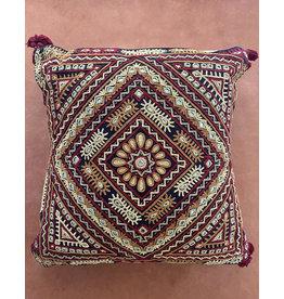Qasab Shisha Pillow Red Cream