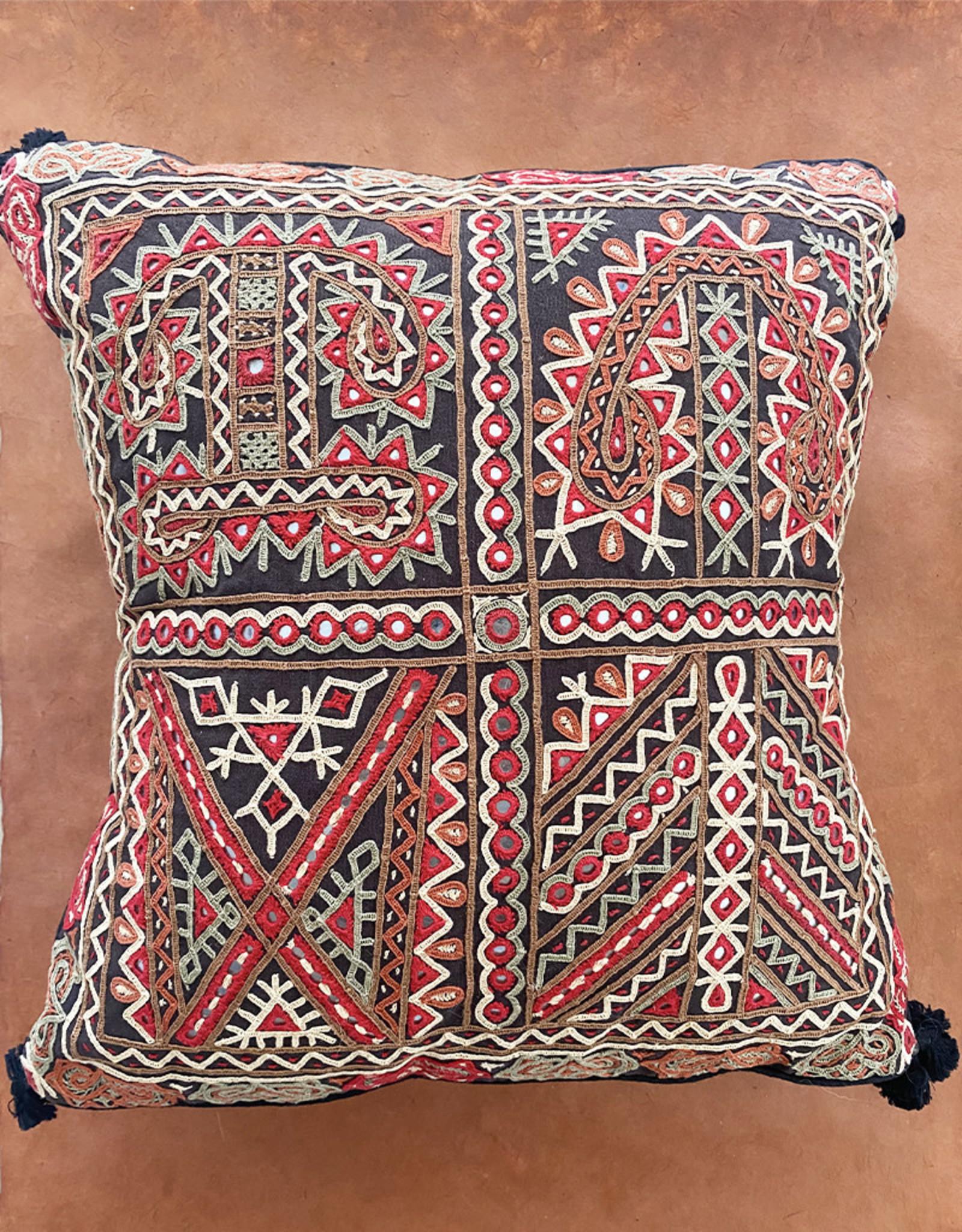 Shisha Pillow Red Grey