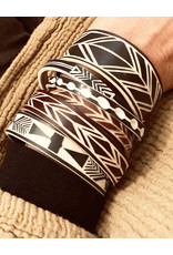 "Omba Himba Feather Bracelet Rust 0.25"""