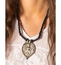 Jaipur Silver Durga Amulet I