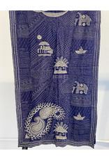 SHE Saumya Elephant Scarf Blue