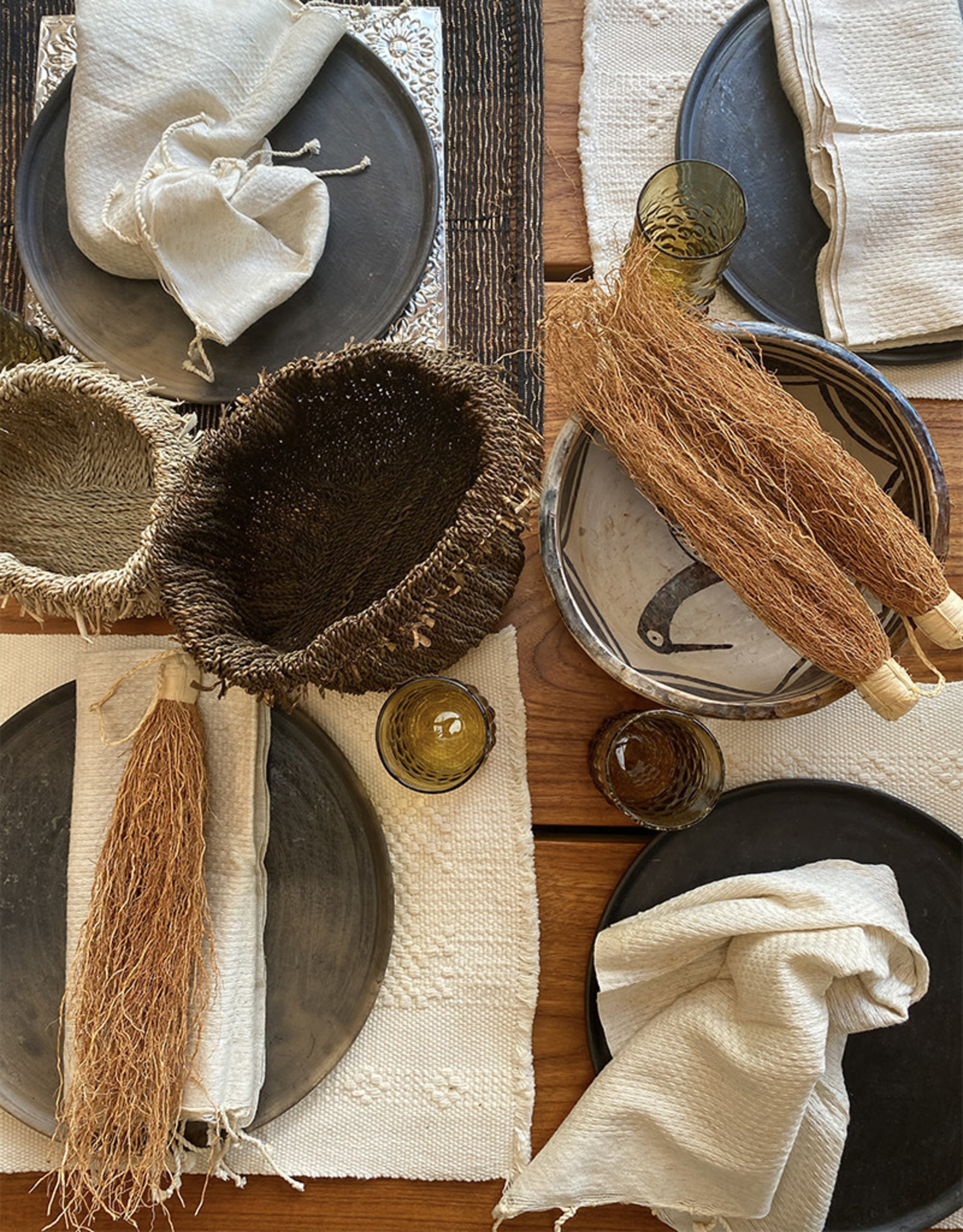 Comptoir Natural Napkin With Tassels
