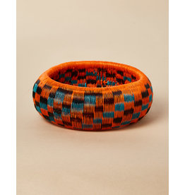 Finatur Werregue Basket Bangle Orange Turquoise Black