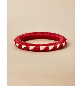 Finatur Wounaan Bangle Red White Triangle