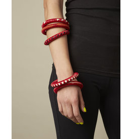 Finatur Wounaan Bangle Red White Chain