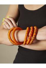 Finatur Wounaan Bangle Orange Stripes