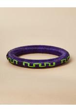 Finatur Wounaan Bangle Purple Green Maze