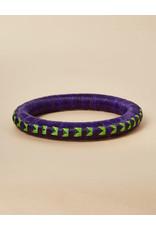 Finatur Wounaan Bangle Purple Green Geo