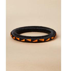 Finatur Wounaan Bangle Black Orange Shapes