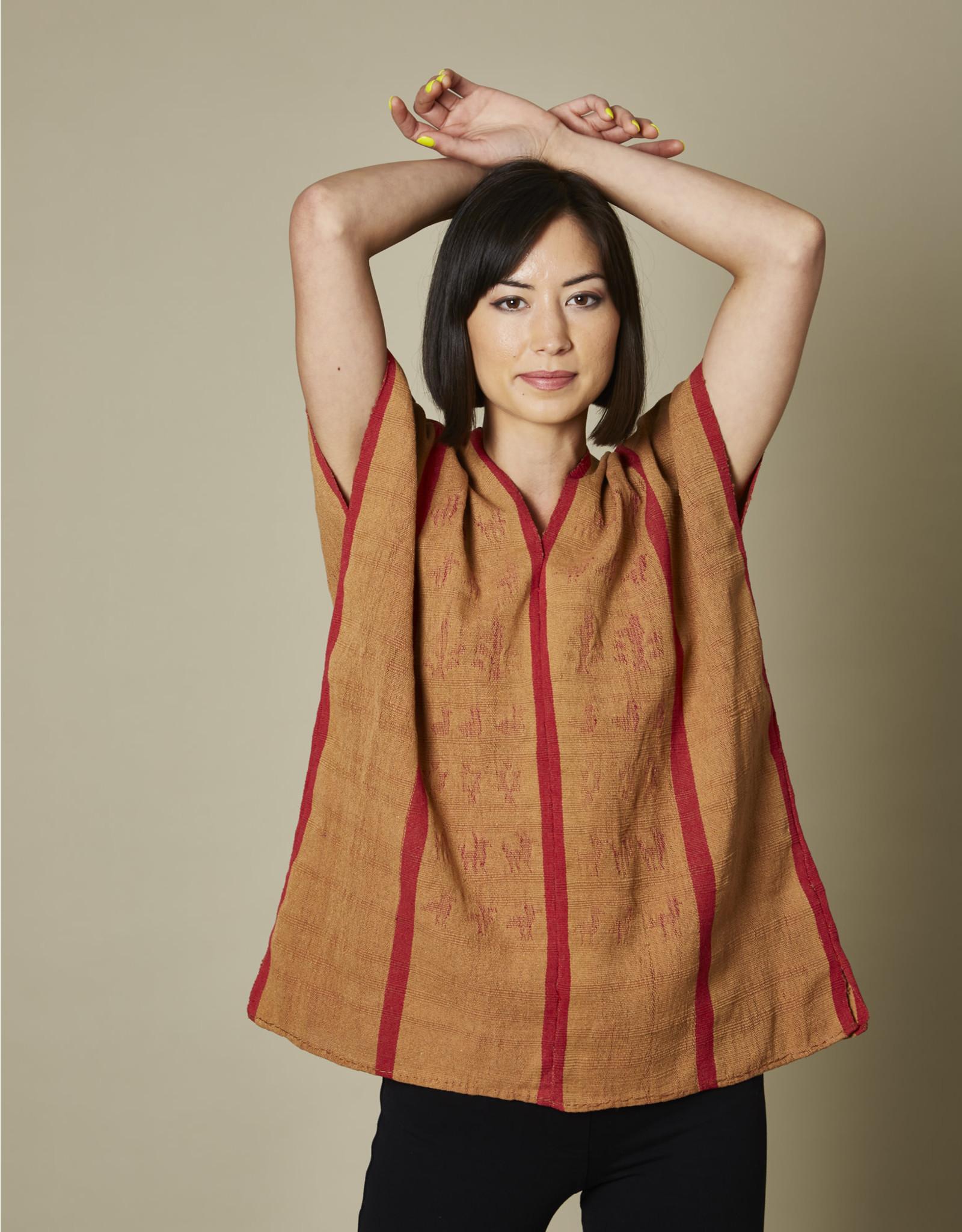 Natural Blusa Red Stripe