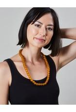 "Cedi Handmade Korli Bead Strand Burnt Orange 1/2"""